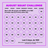 FREE #bootyWERQ Squat Challenge Printable!