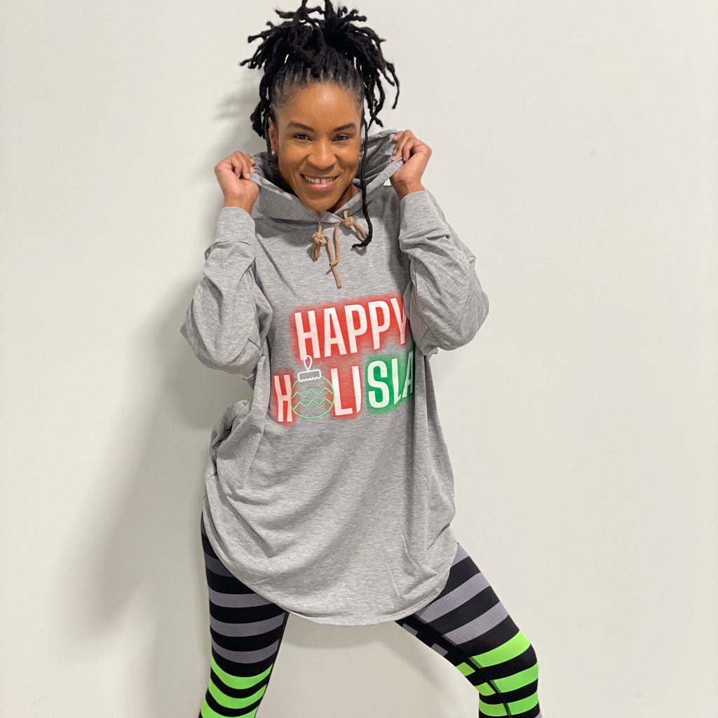 Happy holiSLAY - Oversized Hooded Sweatshirt