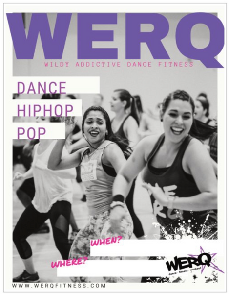 Class Flyer - The WERQ Shop | Official WERQ Dance Fitness Gear