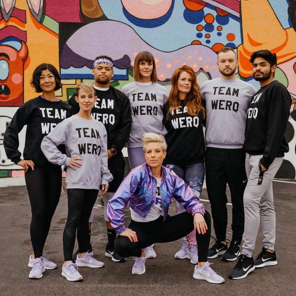 TEAM WERQ Crewneck Sweatshirt - The WERQ Shop | Official WERQ Dance Fitness Gear
