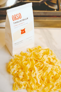 Fresh Pasta Delivery. Tagliatelle. Orso ships fresh pasta nationwide.