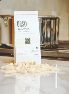 Orso Cavatelli. Fresh pasta delivery. Nationwide Shipping. Mushroom Ragu.