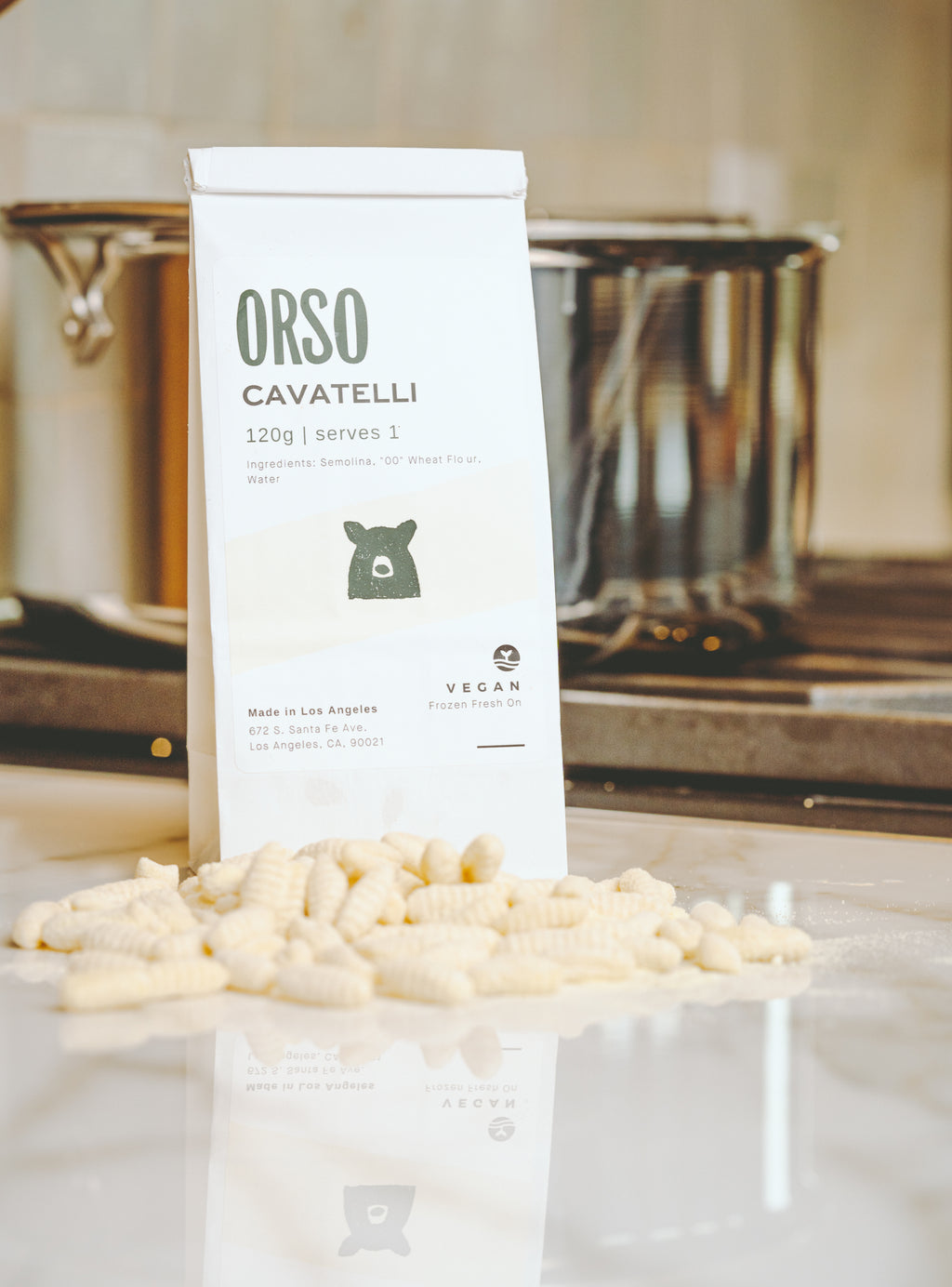 Orso's Fresh Cavatelli Pasta Delivered Nation Wide