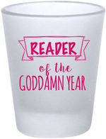 Load image into Gallery viewer, Reader of the Year shot glass