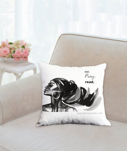 Eat. Pray. Read. pillow