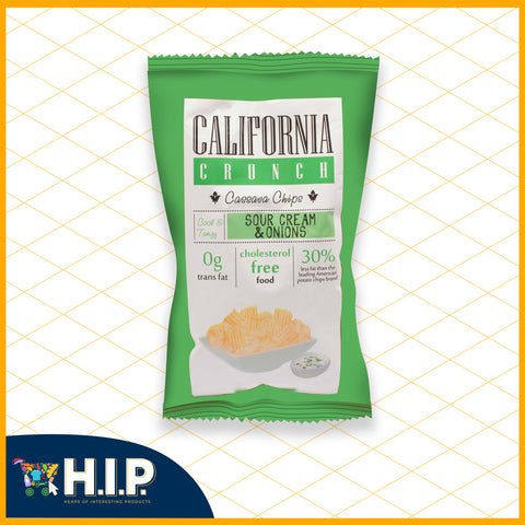 California Crunch Cassava Chips Sour Cream and Onions