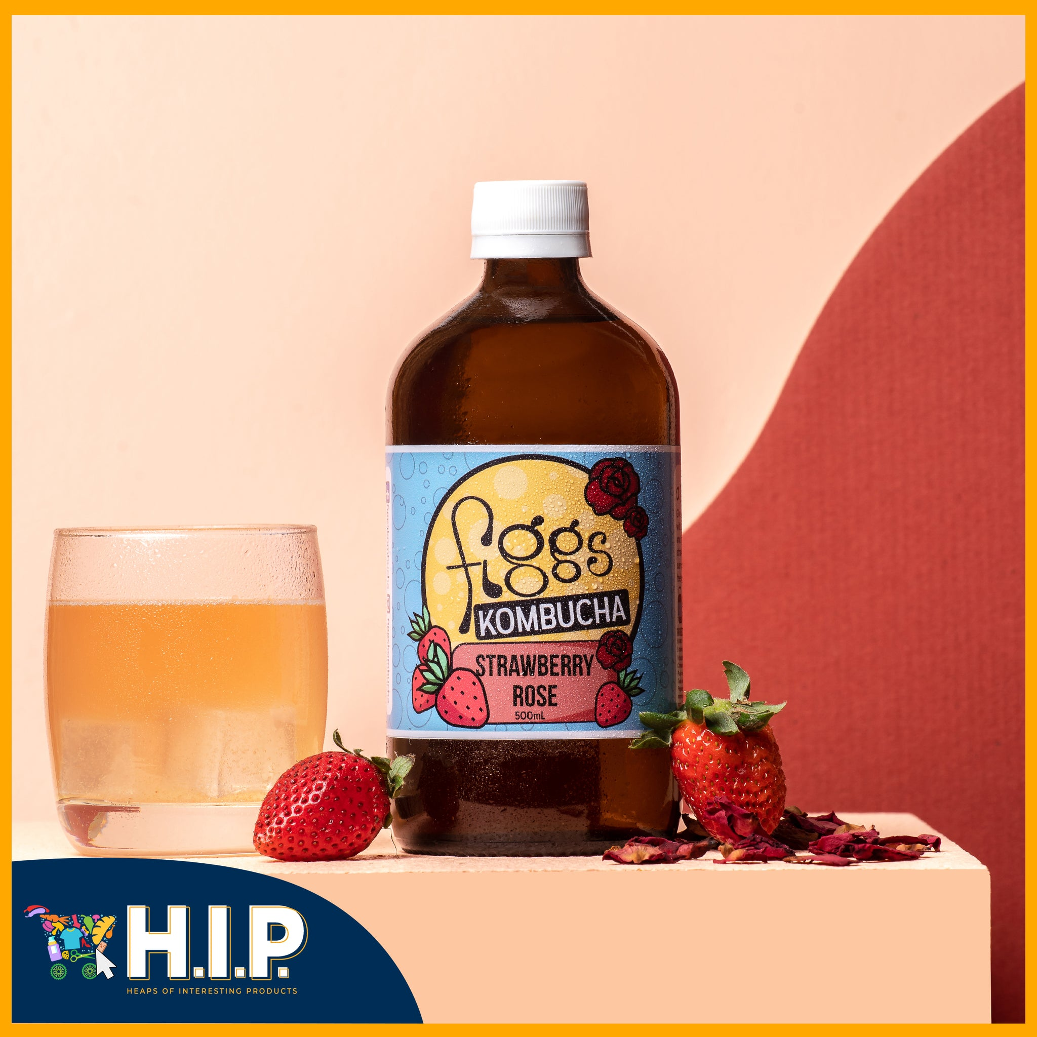 Figgs Kombucha - Strawberry Rose