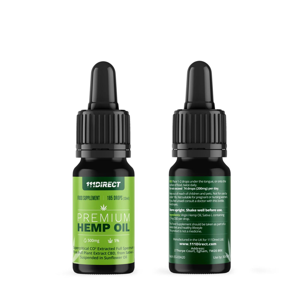 Premium Full Spectrum CBD OIL - 500mg