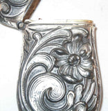 Antique Art Nouveau Sterling Silver Match Safe Vesta By Webster Co Floral Design