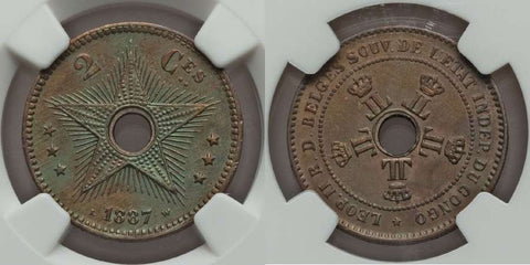 Belgian Congo Two Centimes
