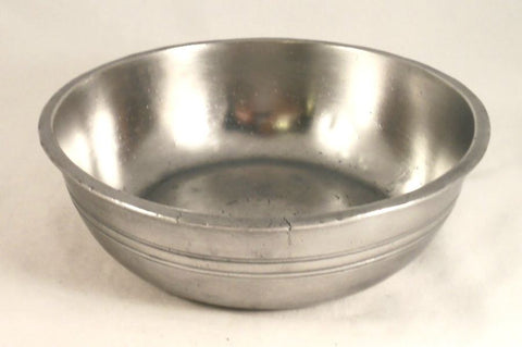 Antique Pewter Deep Basin Crown and Rose Mark Made in London