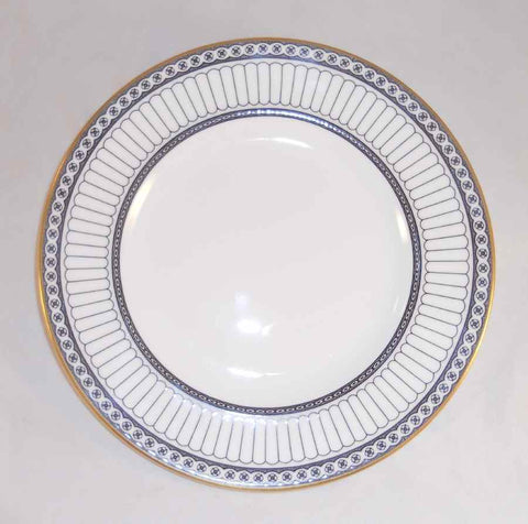 "Pair Of Bone China Salad Plates Wedgwood Colonnade W4340 8 1/8"" Diameter"