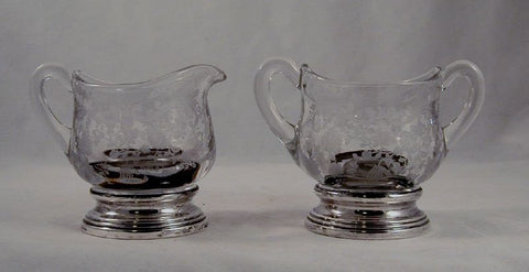 Glass Creamer and Sugar