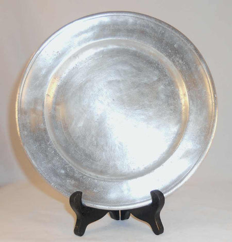 "Antique Pewter 8"" Plate Thomas Danforth Touch Mark Middletown, Connecticut"