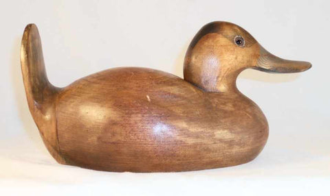1982 Carved Wood Dux' Dekes Ruddy Duck Decoy By Jeff Duxbury Glass Eyes