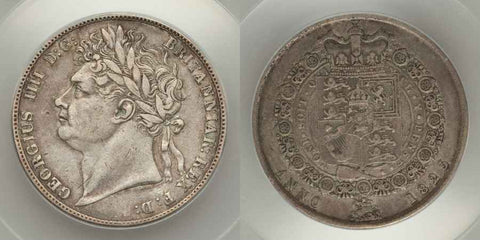 King George IV Silver Half Crown