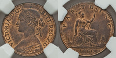 Great Britain 1860 Quarter Penny