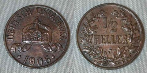 German East Africa Half Heller