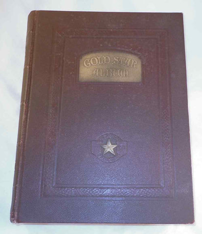 "1928 Hard Cover Book ""Gold Star Album"" Authored & Signed Charles Blumenthal WWI"