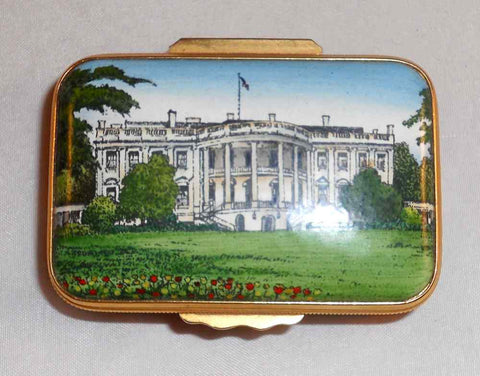 Halcyon Days Enamels England Box USA White House No. 93/200 Horchow Collection