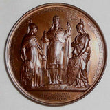 Beautiful 1885 Italian Papal State Choice Uncirculated Commemorative Medal Papal Ruling in Caroline Conflict Pope Leo XIII Anno X