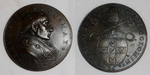 1503 Papal State Pope Pius III Bronze Medal Papal Arms