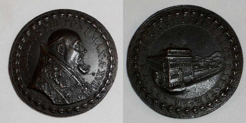 1640 Papal State Pope Urban VIII Anno XVII Annual Bronze Medal Quirinale Palace