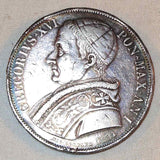 Nice 1831-IR Silver Coin Italian Papal State Scudo Pope Gregory XVI ANNO I