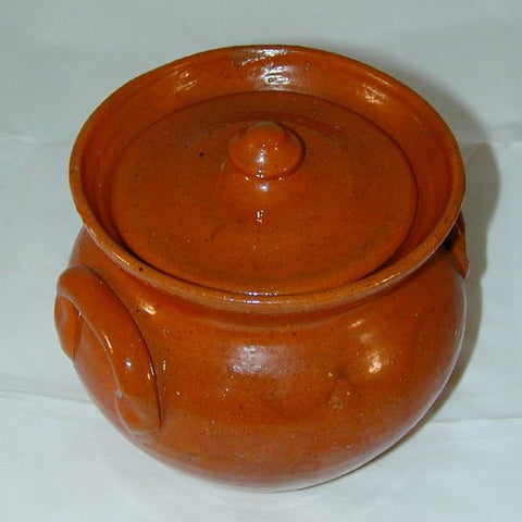 Jugtown Redware Covered Jar