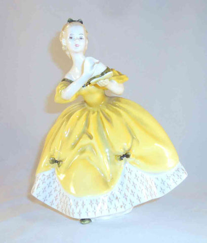 English Royal Doulton Figurine Woman Yellow Ballroom Dress The Last Waltz HN2315
