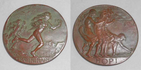 1931 Large Bronze Medal Society of Medalists 3rd Issue Harmon MacNeil Sculptor