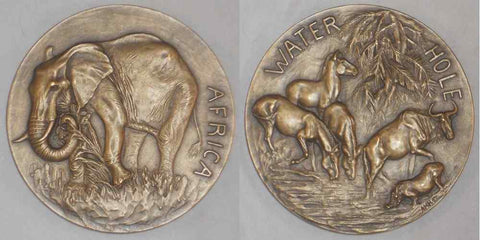 1943 Large Bronze Medal Society Of Medalists 27th Issue Anna Hyatt Huntington