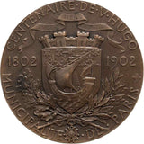 1902 Portrait Bronze Medal Victor Hugo Centennial Paris Municipality by Chaplain