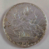 Mexican Crown Size Silver Coin 1910 One or Un Peso United States of Mexico Horse and Rider Caballito Choice Extremely Fine or Better