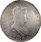1814 Ferdinand VII Spain Silver Coin Mexico 8 Reales Mint Mark Mo Assayer JJ