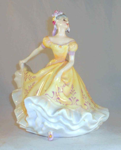 1970 English Royal Doulton Hand Painted Bone China Woman Figurine Ninette NH2379