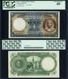 1938 One Pound Banknote National Bank of Egypt Cook Signature P22b PCGS EF40
