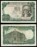 1971 Spain 1000 Pesetas Pick Number 154 Writer Jose Echegaray Beautiful Very Fine Banknote