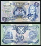 1983 Bank of Scotland Five Pounds Banknote Pick Number 112f Crisp Uncirculated
