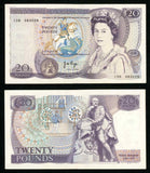 1970-1980 Great Britain Twenty Pounds Queen Elizabeth Signed J B Page Prefix C06
