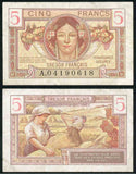 5 Francs Tresor Military Issue
