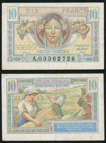 10 Francs Tresor Military Issue