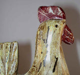 Carved Wooden Rooster