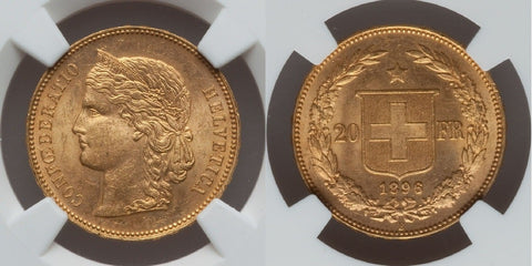Swiss Gold Twenty Francs