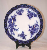 Flow Blue Ironstone Plate