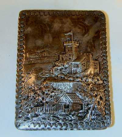 Castle Top Sterling Silver Box William Comyns