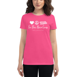 Love, Peace, Bacon Grease: Ladies' T