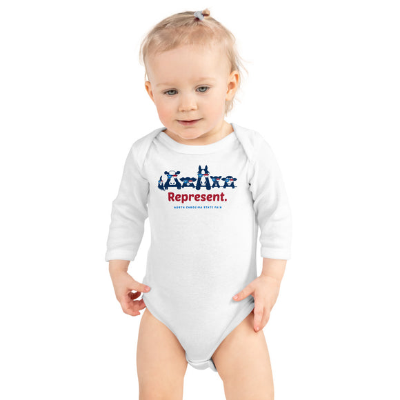 Represent: Infant Long Sleeve Bodysuit