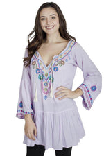 Flower Power Boho Chic Embroidered Peasant Dress