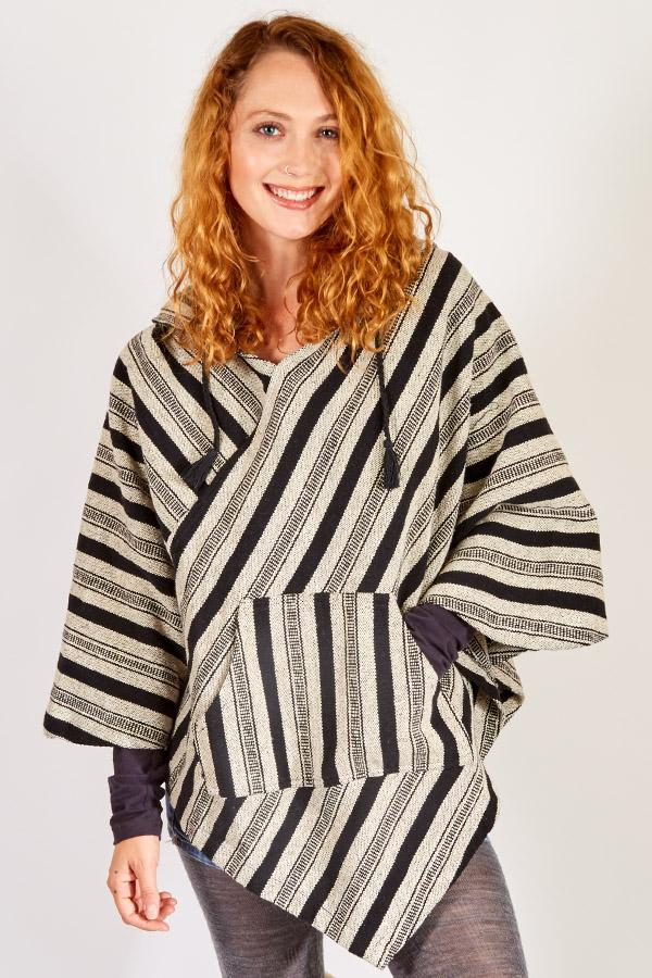 Woodstock Soft-washed Cotton Hoodie Poncho